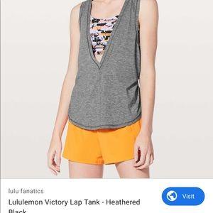 Lululemon victory lap tank gray size 4